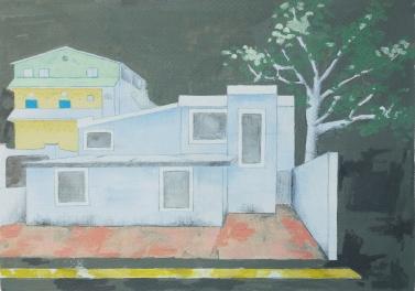 65 Calle 5 Alcatraces, Cancun /Acrylverf en potlood op papier/29x21