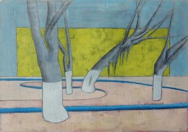 Plein 2/Acrylverf en potlood op papier/29x21